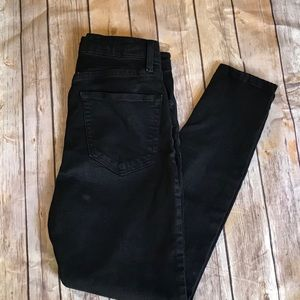 Topshop Moto Jamie High Rise Black Skinny Jeans